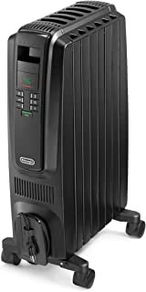 De'Longhi Oil-Filled Radiator Space Heater, Quiet 1500W, Adjustable Thermostat, 3 Heat Settings, Timer, Energy Saving, Saf...