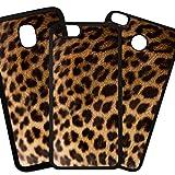 Fundas De Moviles Carcasas De Moviles Funda Carcasa Modelo Fondo Imitacion Tela, Piel de Leopardo Compatible con iPhone 8 Plus