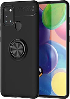 Galaxy A21S Case, Ikwcase 360 Degree Rotating Ring Holder Case (Compatible with Magnetic Car Mount) Resilient TPU Drop Pro...