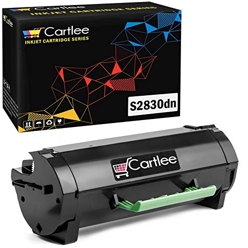 Cartlee Compatible Black S2830 High Yield Laser Toner Cartridge Replacement for Dell (8500 Page Yield) S2830 S2830dn 2830 dn 2830dn Smart Ink Series Printers