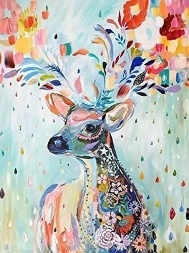 WOMGD® Dierlijke puzzel, houten puzzel 1000 stukjes, puzzel met hoge moeilijkheidsgraad voor volwassenen Kids Family Games Gift Educatief speelgoed (Jewel Deer)
