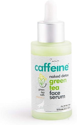 mCaffeine Naked Detox Green Tea Face Serum | Hydration| Vitamin C, Hyaluronic Acid | All Skin | Paraben & Mineral Oil...
