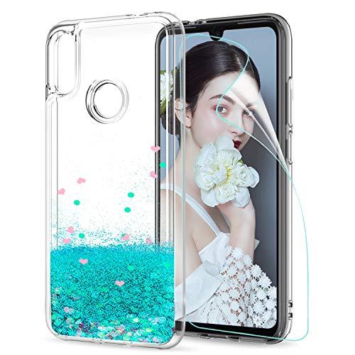 LeYi Funda Xiaomi Redmi Note 7 / Note 7 Pro Silicona Purpurina Carcasa con HD Protectores de Pantalla Transparente Cristal Bumper Telefono Gel...