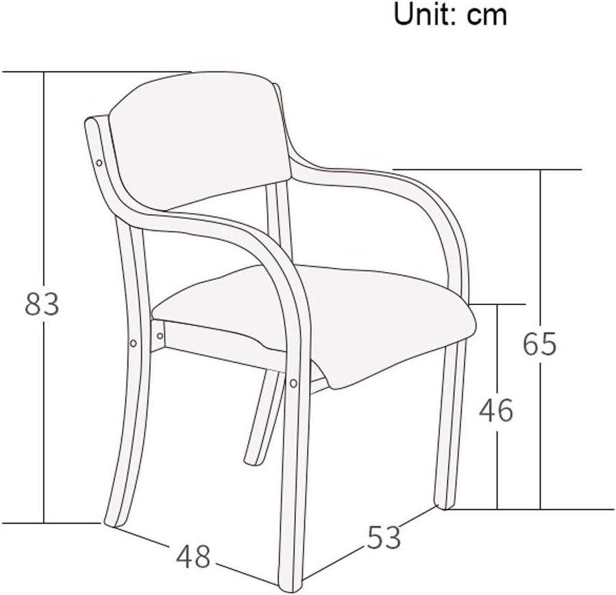 SLL- Chaise de Salle, Chaise de Bureau Simple, créative Dossier, Chaise Loisirs, Maison Adulte Chaise de Salle Moderne (Color : Purple) Brown