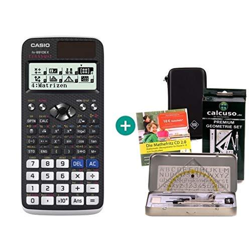 Casio FX-991DE X + Schutztasche + Lern-CD + Geometrie-Set