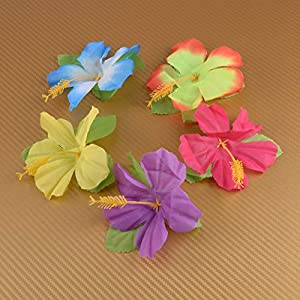 Artificial and Dried Flower 72Pcs Colorful Artificial Flowers Polyester Silk Summer Wedding Party Home DIY Decorations