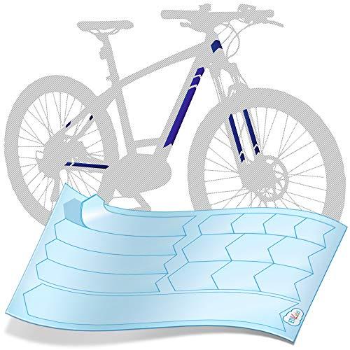 ETIKIDS Protector Adhesivo para Cuadro de Bicicleta. Protección Extra Gruesa Impact-Guard 300 Anti Impactos y rayadas