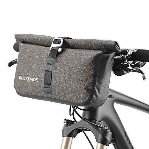 ROCKBROS(ロックブロス) ハンドルバーバッグ 自転車 フロントバッグ 防水 反射 付き セット 大容量 B078Z6LDYT 1枚目