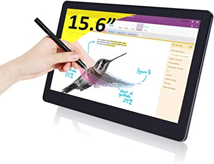 Gechic 15.6 inch 1080P Portable Touchscreen Monitor (1503I), IPS 1920x1080, USB-C Powered, Built-in Speakers, Capacitive Touch, VESA 100, for Raspberry Pi