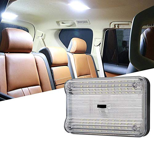 ETbotu autolampen - 12 V 36 LED Auto interieur Voertuig Dome Licht Lezen Lamp Stijlvolle Dak Trunk Nachtlampje met Schakelaar