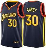 WSWZ Camiseta De Baloncesto NBA - Stephen Curry Camisetas De Hombre NBA 30# Golden State Warriors - Unisex Cómodo Camiseta Sin Mangas Deportiva De Baloncesto,S(165~170CM/50~65KG)