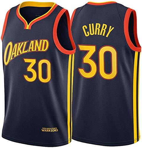 WSUN Herren Basketball NBA Trikots - Warriors 30# Stephen Curry NBA Trikots - Freizeit Atmungsaktives Ärmelloses Basketball Sport T-Shirt,M(170~175CM/65~75KG)