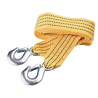 Bluecell Heavy Duty Polyester Tow Strap with Safety Hooks 5 Ton Capacity