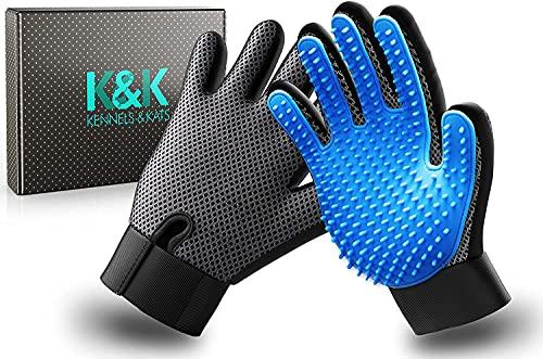 K&K Pet Grooming Glove Set