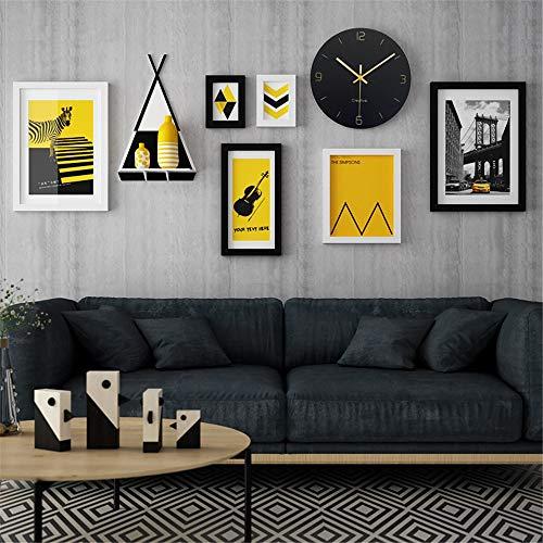 Zwarte massief houten kozijnen muur Set moderne eenvoud fotolijst galerij set wit fotolijst collectie collage voor woonkamer restaurant slaapkamer
