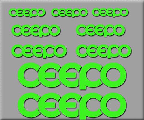 Ecoshirt 7L-TWWM-GD1Z Pegatinas Ceepo R218 Vinilo Adesivi Decal Aufkleber Клей MTB Stickers Bike, Verde