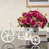 mqlerry Flores de Seda Boda Plástico Artificial Decoración Flores de Imitación Flores Adornos de Flores Adornos Interior Muebles Interior AA