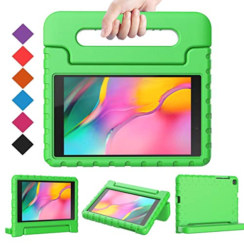 BMOUO Kids Case for Samsung Galaxy Tab A 8.0 2019 SM-T290/T295, Galaxy Tab A 8.0 Case 2019, Shockproof Light Weight Protective Handle Stand Case for Galaxy Tab A 8.0 Inch 2019 Without S Pen - Green