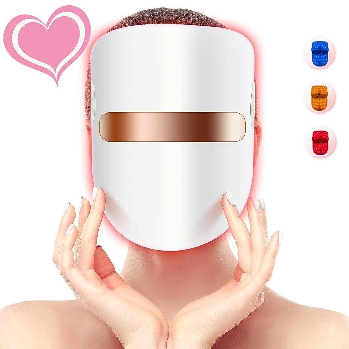 心配風刺ぬれた3色の軽い療法のアクネのマスク、LEDの顔のマスク、導かれた光子療法の顔の美のマスクのにきびのしわのコラーゲンの顔のスキンケアの若返りのための無制限の処置