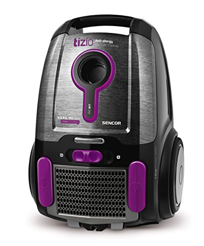 SENCOR SVC 8VT-EUE2 stofzuiger met zak (700 watt, ECO motor) zwart/paars