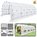 Strong Camel Large Walk-in Plants Greenhouse Portable Garden Hot House w/Combined Cover-White (24.6' X10'X7')