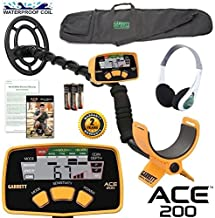 Garrett Ace 200 Sports Package with Headphones and Detector Carry Bag