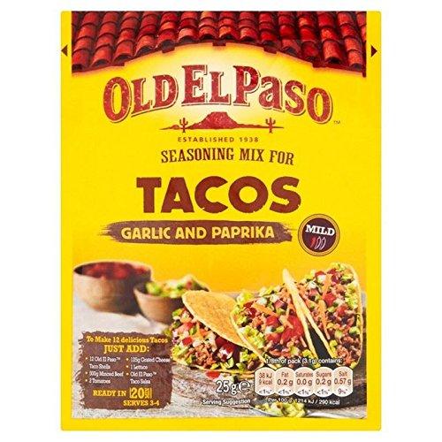 Vieux El Paso Taco Ail Assaisonnement Et Le Paprika 35G