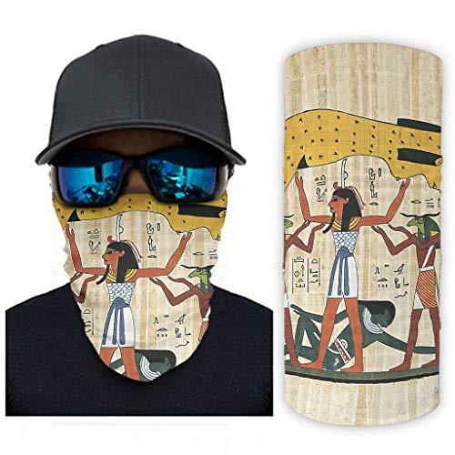 NA Rstruction de la Creacin Fresko La Dios del Himmelsgttin Geb de la Tierra, bandana para la cara, proteccin solar, cuello, color blanco, tamao talla nica