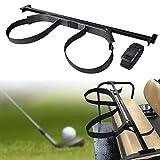 Bei Cheng Universal Golf Bag Attachment Golf Bag Holder Bracket Rack for Golf Cart Rear Seat Black