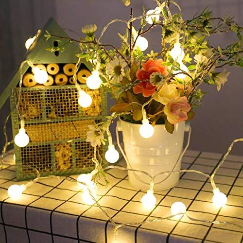 Lepro 100er LED Kugel Lichterkette 13M, Partybeleuchtung Außen 8 Lichtermodi mit Merkfunktion, Strombetrieben mit EU Stecker, Warmweiß, Ideal Weihnachtsbeleuchtung für Innen, Zimmer, Party, Deko usw
