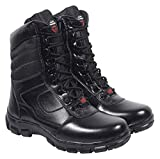 PARA TROOPER Men's Black Leather Combat Boots - 9 UK