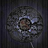 zgfeng Reloj de Pared de Vinilo de Calavera Mexicana Reloj de Pared de Calavera Reloj de Pared 3D de diseño Moderno Reloj de Pared de Calavera Mexicana Decoración de Pared de Halloween