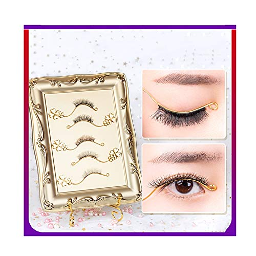 ZUEN De Haute Qualité Photo Magnétique Testeur Frame, Faux Cils Magnétiques Réutilisables Kit Ultra Mince Extension Souple Et Confortable pour Les Femmes Natural Look (5 Paires Cils 3D)