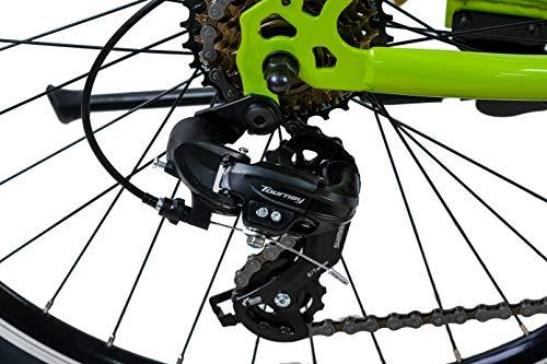KCP Mountainbike Fully MTB Jugendrad 26″ Zoll Fairbanks mit 21G Shimano Vollfederung schwarz grün - 6