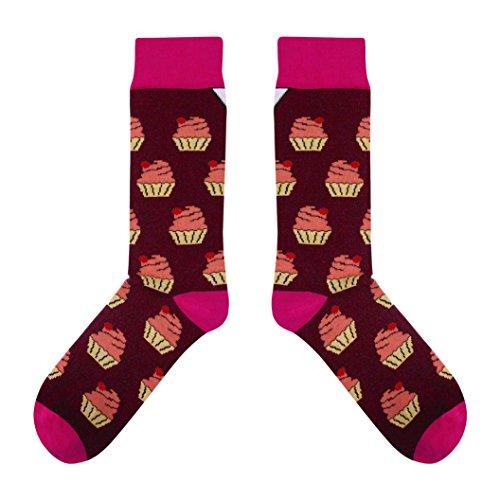 CUP OF SOX - Süßigkeiten/Kuchen/Muffins - Socken in der Tasse - Herren und Damen Geschenksocken Freizeit Socken (41-44)