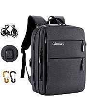 """Gimars Upgrade Design 3 in 1 Zaino Messenger Bag per Computer Portatile da 15.6""""Borsa a Tracolla Uomo con Presa USB Antifurto Multifunzionale per università Scuola Business Viaggio Aereo (Grigio)"""