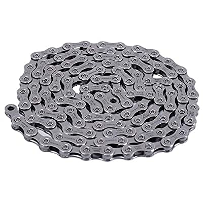 DAOB Bicycle Chains HG54 HG95 10 Speed Bike Chains Steel Road Bike 116 Links Chain Hybrid Cycle Cycling Accessories(HG54,Silver)
