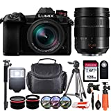 Panasonic Lumix DC-G9 Mirrorless Micro Four Thirds Digital Camera with 12-60mm Lens + Essential Starter Accessory Bundle incl. Wide-Angle & Telephoto Conversion Lens, Gadget Bag, Slave Flash & More