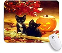 マウスパッド Mouse Pad Kittens & Pumpkins Non-Slip Rubber Base for Computers Laptops