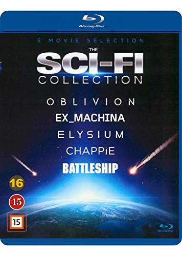 The Sci-Fi Collection 5-Disc Set ( Oblivion / Ex Machina / Chappie / Battleship / Elysium ) [ Dänische Import ] (Blu-Ray)