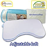 Comfyt Memory Foam Pillow - Adjustable Loft with Shredded Foam Pieces Side Sleeper Pillow Unique Feature : Cooling Gel Infused Layer - Hypoallergenic Bamboo Pillow Case Removable Washable