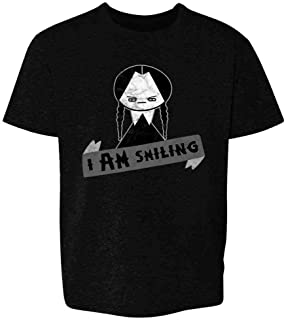I AM Smiling Funny Goth Halloween Youth Kids Girl Boy T-Shirt