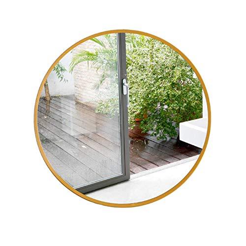 FACAIA Espejo de Afeitar 80 cm de diámetro Marco de Metal de latón Redondo Colgante de Pared Diseño Simple para tocador de baño Decorativo (Color: Blanco, Tamaño: 70 cm)
