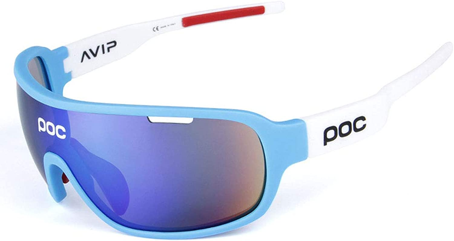 Sports Sunglasses Polarized Sports Sunglasses Cycling Running Glasses UV400 Predection Superlight Frame Design for Mens and Womens 5 Interchangeable Lenses 7 colors Polarised Sports Sunglasses Mens &
