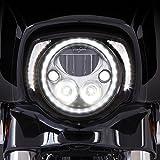 Ciro Fang LED Headlight Bezel Black for 2014-newer FLH 45201 Gloss Black, 8.75' x 9'