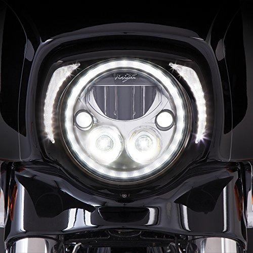 "Ciro Fang LED Headlight Bezel Black for 2014-newer FLH 45201 Gloss Black, 8.75"" x 9"""