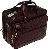 HYATT Leather Accessories Bolsos de oficina de cuero del maletín del ordenador portátil de 16 pulgadas para los hombres