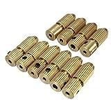 AYRSJCL 1Pc 2,3 mm Latón Motor eléctrico árbol de sujeción Mandriles de Mini pequeño de 0,7 mm-1,4 mm Taladro Micro Broca Abrazadera Mandriles