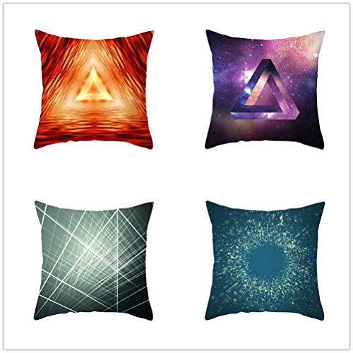 Set of 4 Pcs Throw Pillow Case Cushion Covers Abstract Pattern Velvet Soft Superfine Fiber Square Decorative Throw Pillowcases for Living Room Sofa Car with Concealed Zip E3688 55x55cm/21.5x21.5in