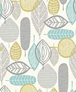 RETRO: Abstract retro style enjoys a modern update with this scandi inspired wallpaper. DESIGN: Featuring a graphic leaf design in a versatile palette of greys with a hint of blue for a bright, sunny feel. With a linen-effect matt finish, its look is...